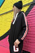 Sweater Side Striped BK