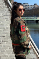 Jacket Military Red Stripe Sfeer