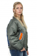 Jacket Bomber Denim Bull Orange s
