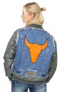 Jacket Bomber Denim Bull Orange b