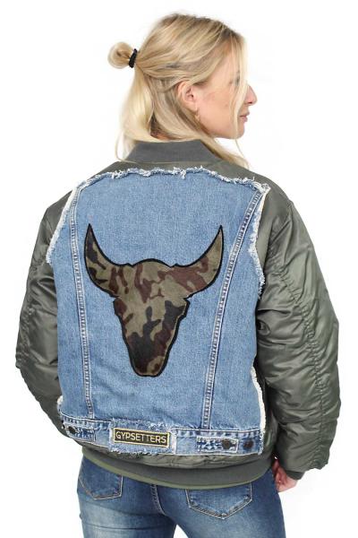 Jacket Bomber Denim Bull B