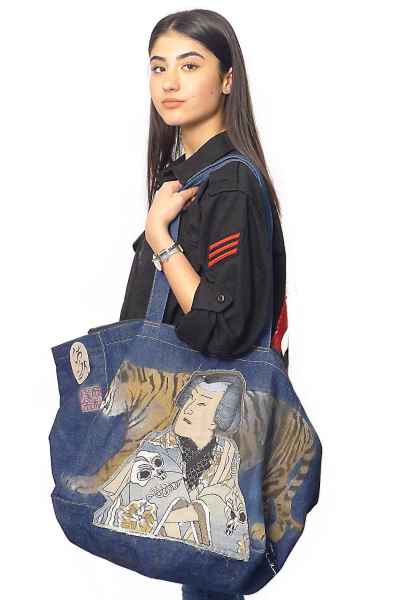 Bag Natalia Denim Tiger Samurai