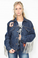 Jacket Denim Fringe Bull f