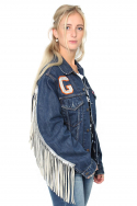 Jacket Denim Fringe Bull s