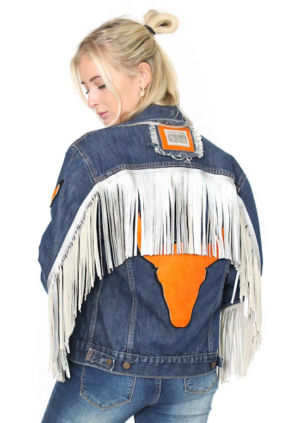 Jacket Denim Fringe Bull B