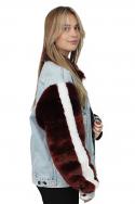 Jacket Denim Fur Sleeves s