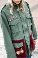 Parka Faux Fur Pockets S R